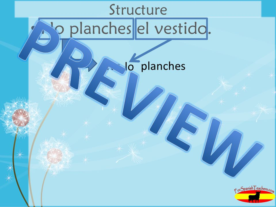 Structure No planches el vestido. No planches PREVIEW lo