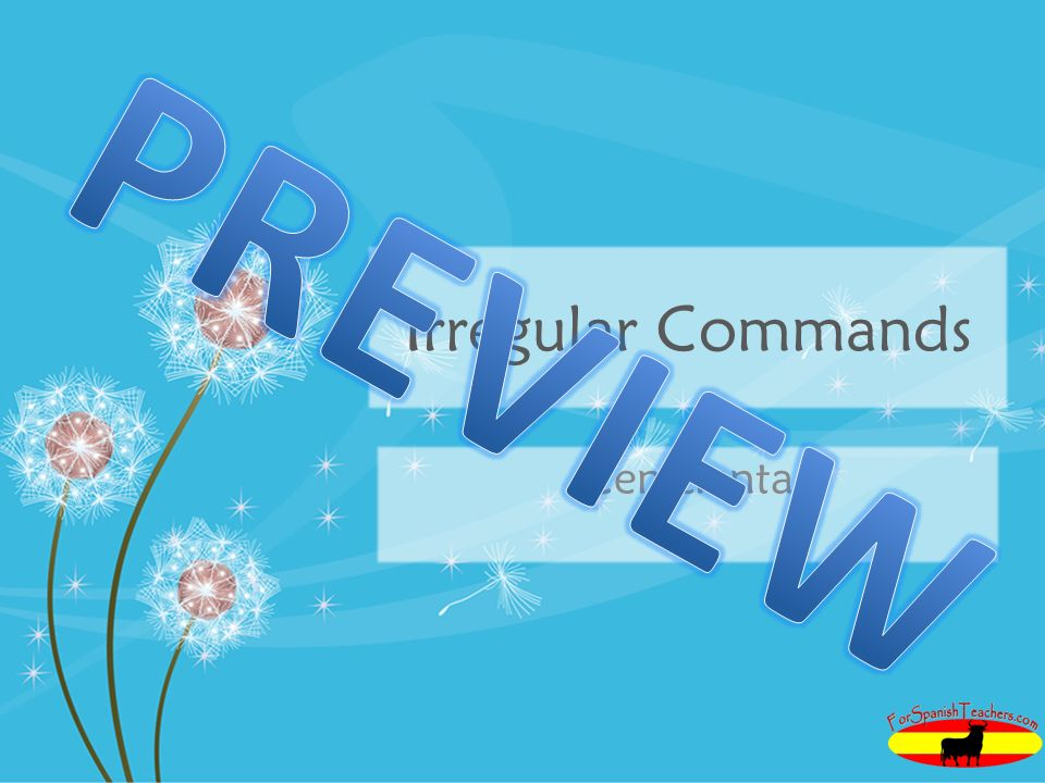 PREVIEW Irregular Commands Cenicienta
