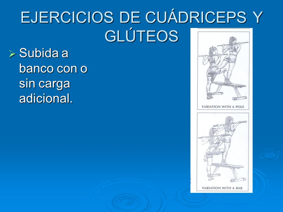 EJERCICIOS DE CUÁDRICEPS Y GLÚTEOS