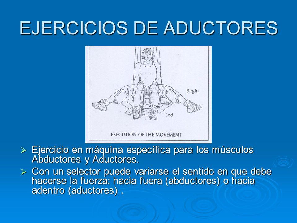 EJERCICIOS DE ADUCTORES