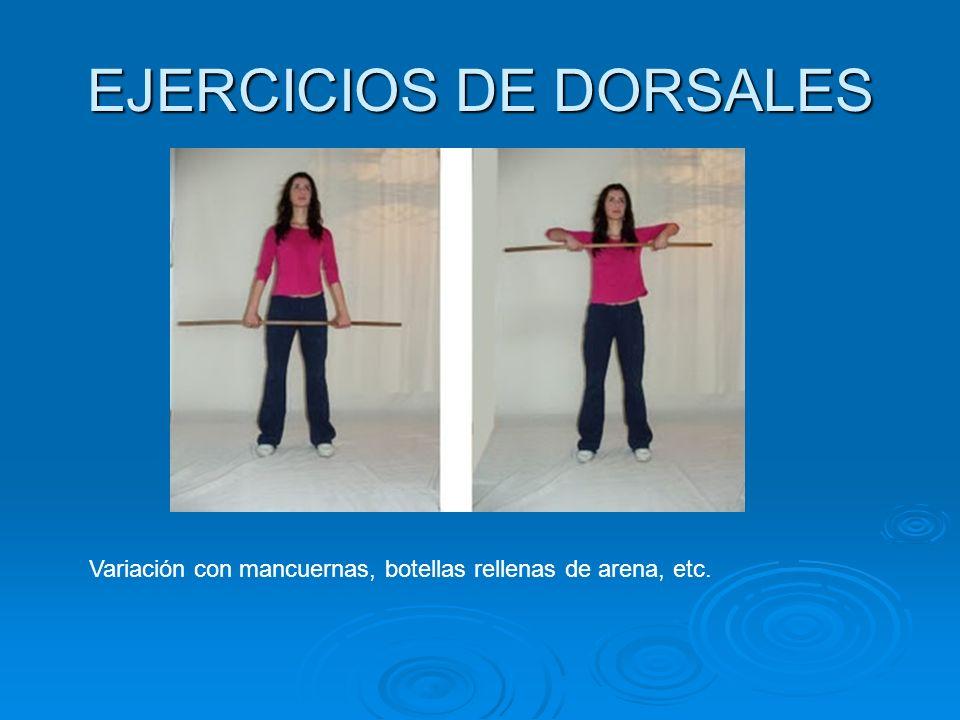 EJERCICIOS DE DORSALES
