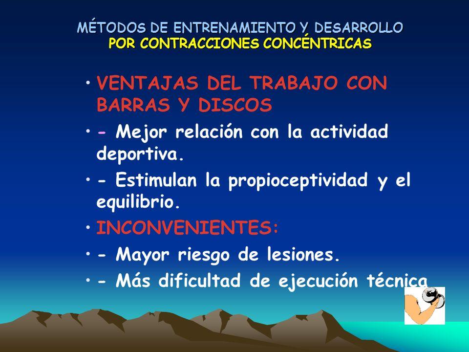 MÉTODOS DE ENTRENAMIENTO Y DESARROLLO POR CONTRACCIONES CONCÉNTRICAS