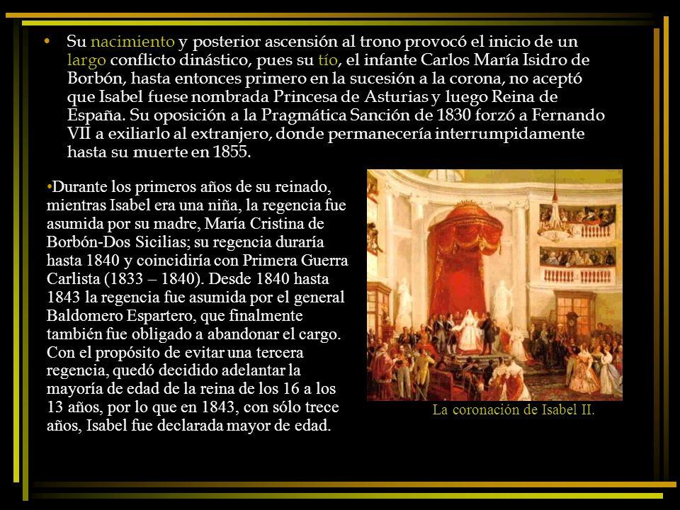 La coronación de Isabel II.