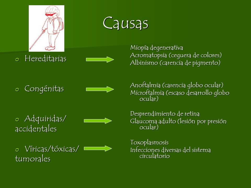 Causas Hereditarias Congénitas Adquiridas/ accidentales