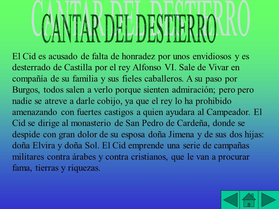 CANTAR DEL DESTIERRO