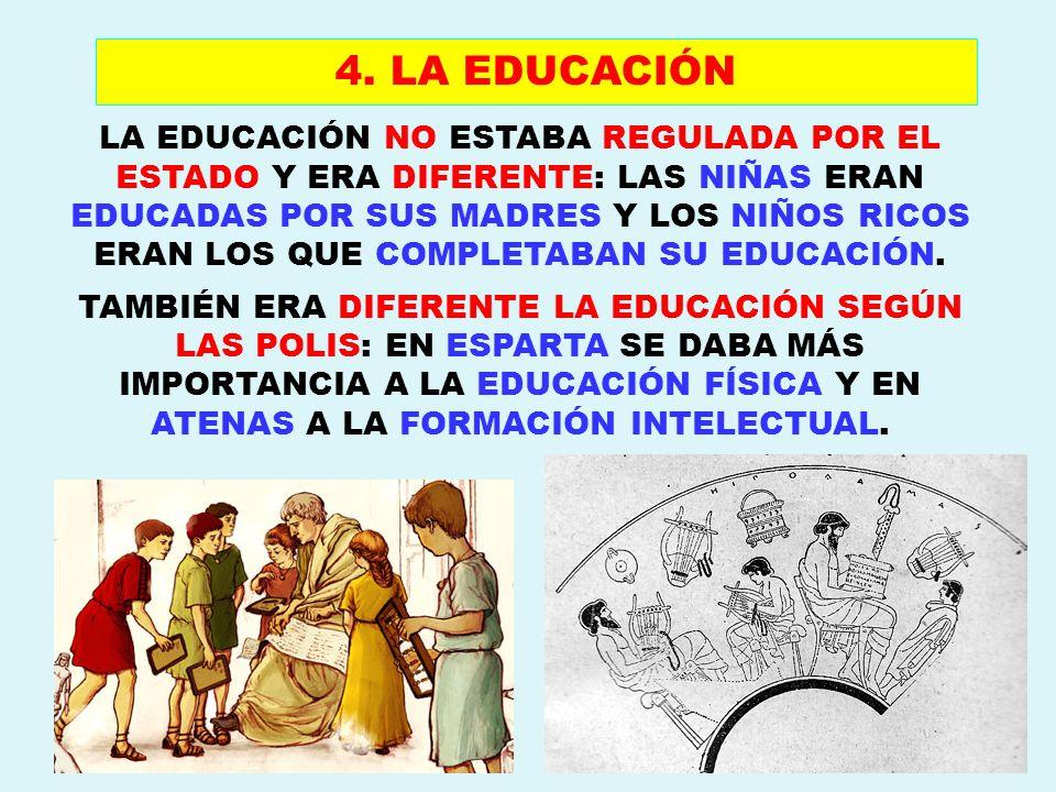 4. LA EDUCACIÓN