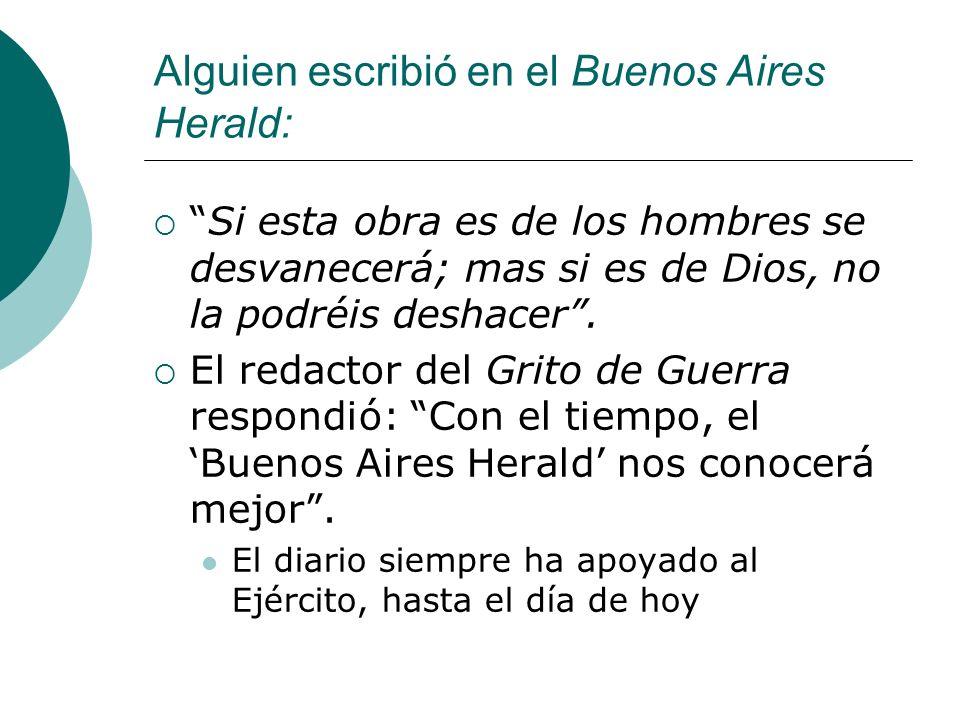 Alguien escribió en el Buenos Aires Herald: