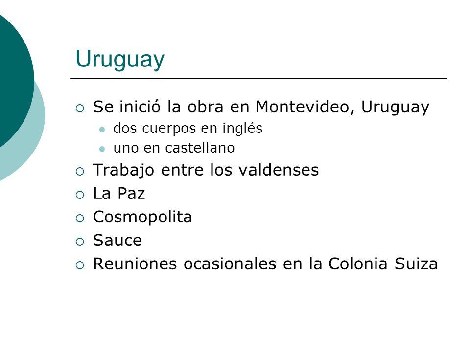 Uruguay Se inició la obra en Montevideo, Uruguay