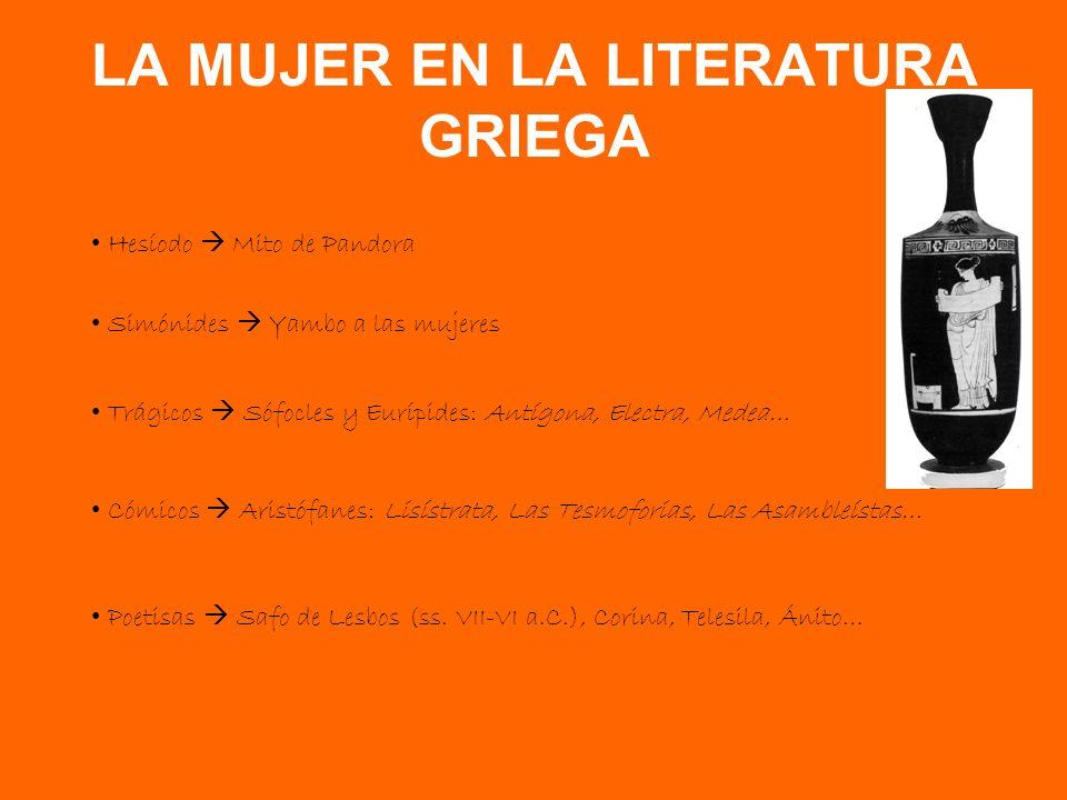 LA MUJER EN LA LITERATURA GRIEGA