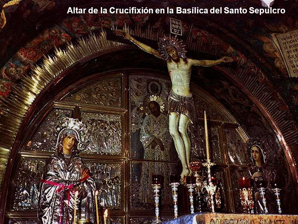 Altar de la Crucifixión en la Basílica del Santo Sepulcro