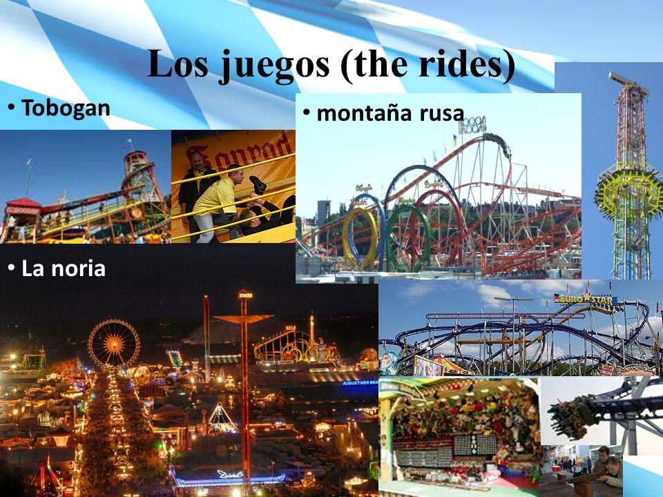 Los juegos (the rides) Tobogan montaña rusa La noria