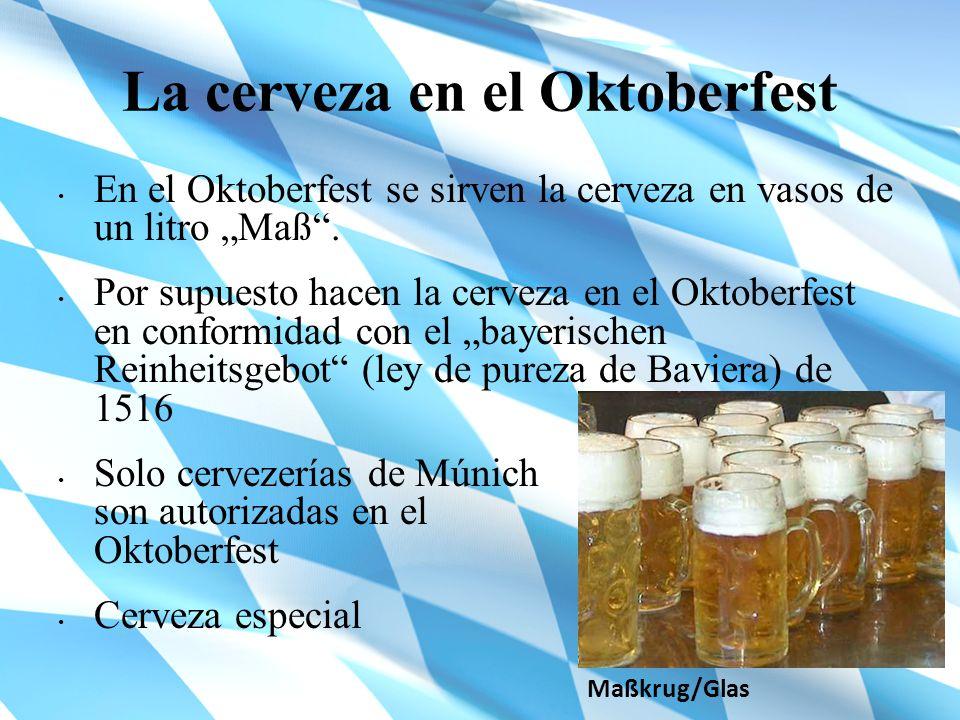 La cerveza en el Oktoberfest