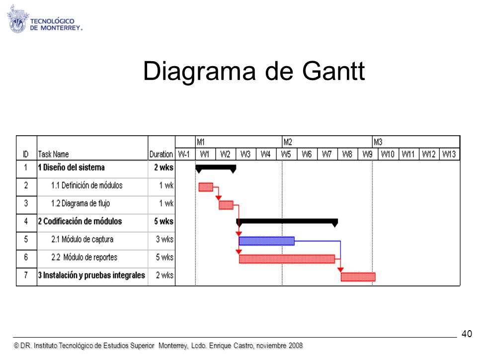 Diagrama de Gantt 40 40