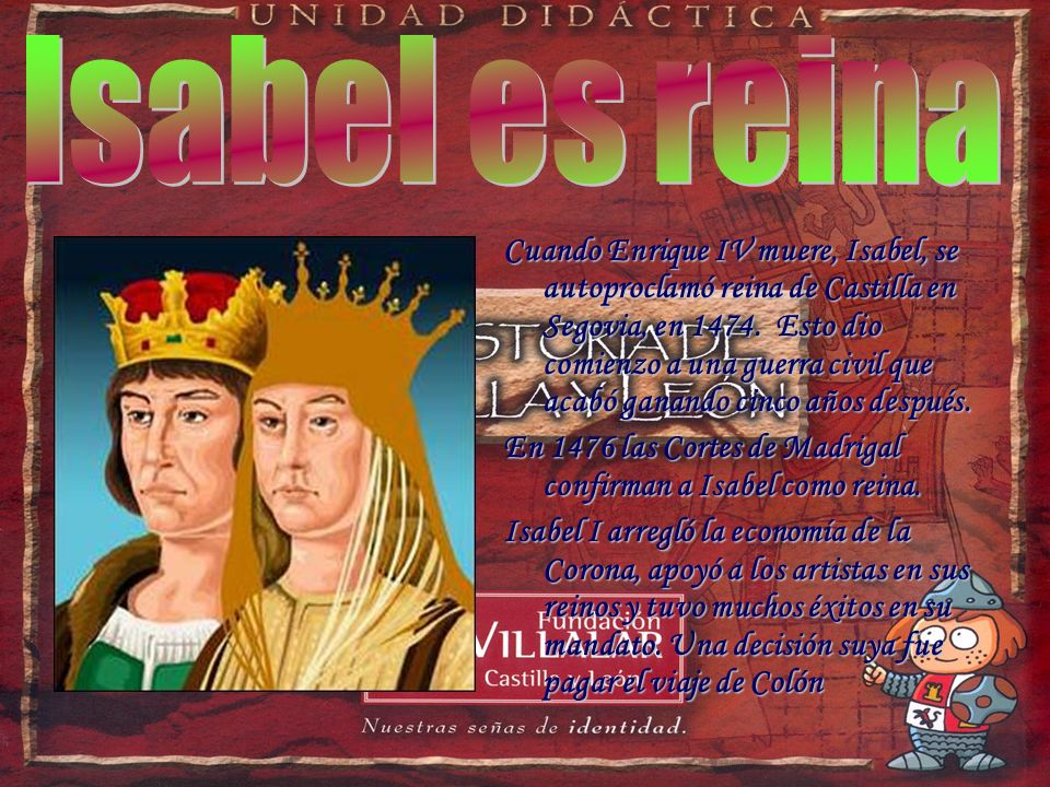 Isabel es reina