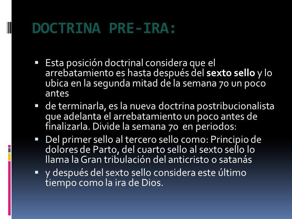 DOCTRINA PRE-IRA: