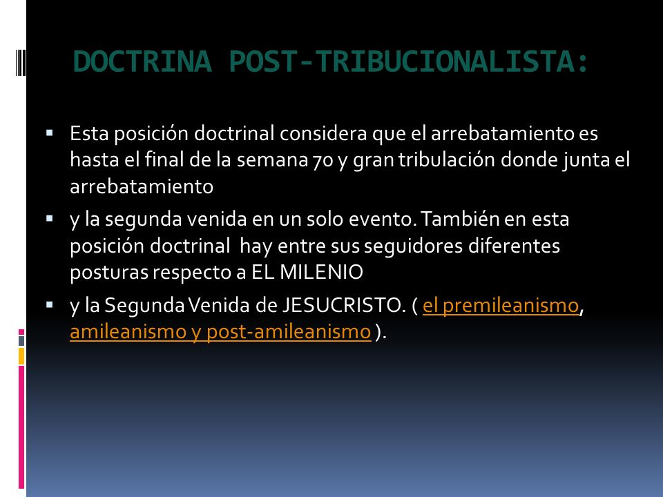 DOCTRINA POST-TRIBUCIONALISTA: