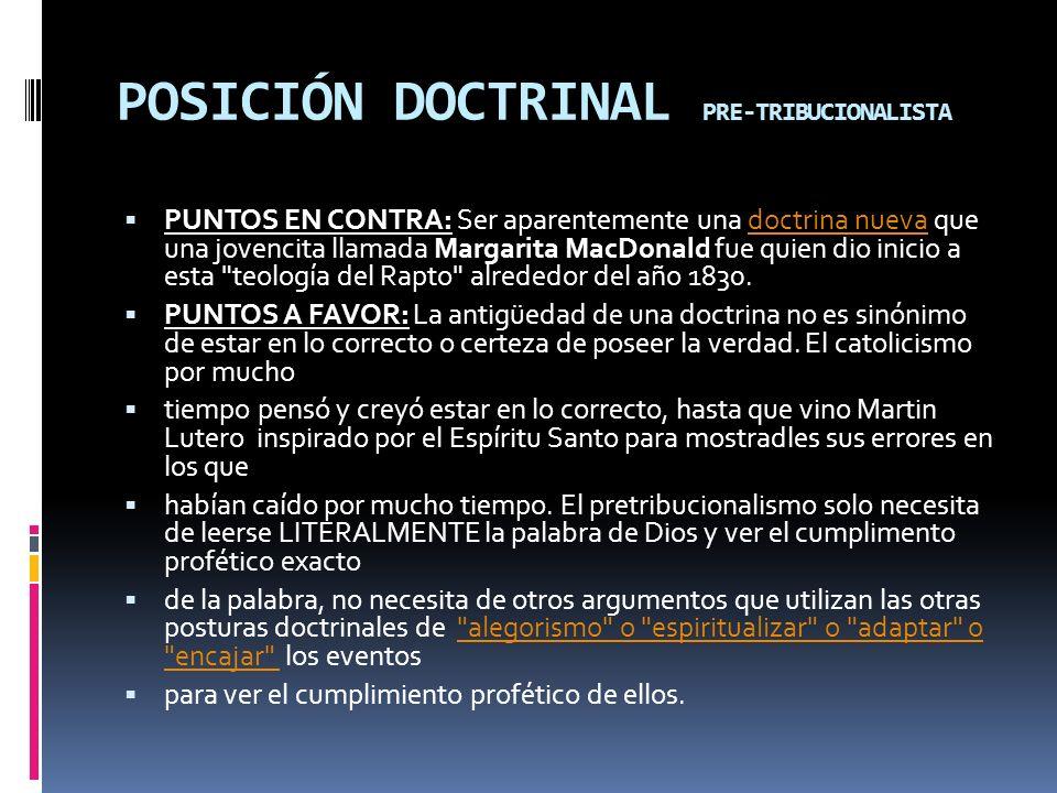 POSICIÓN DOCTRINAL PRE-TRIBUCIONALISTA