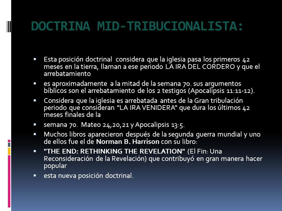 DOCTRINA MID-TRIBUCIONALISTA: