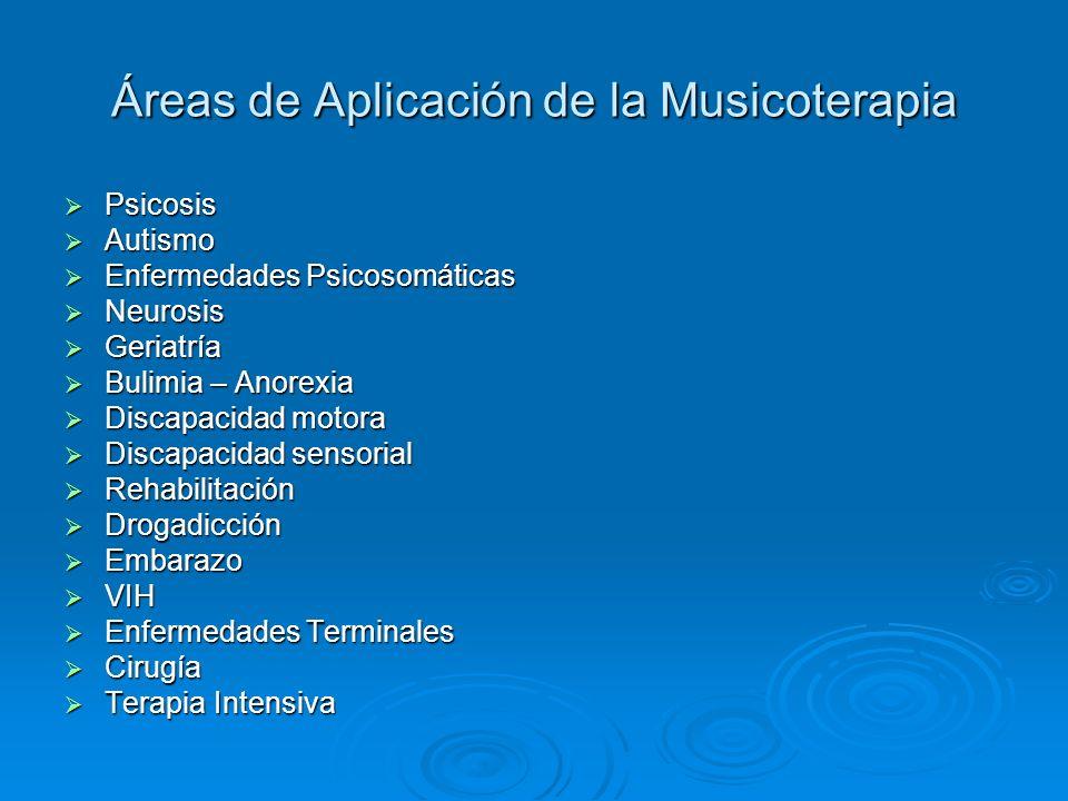 Áreas de Aplicación de la Musicoterapia