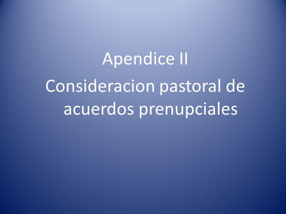 Consideracion pastoral de acuerdos prenupciales