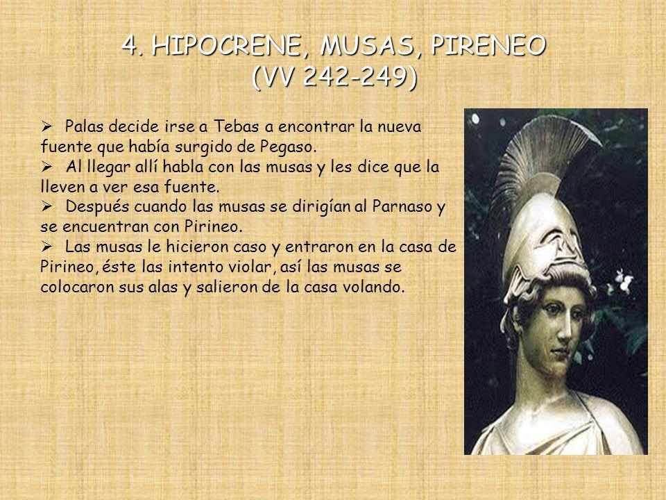 4. HIPOCRENE, MUSAS, PIRENEO (VV 242-249)