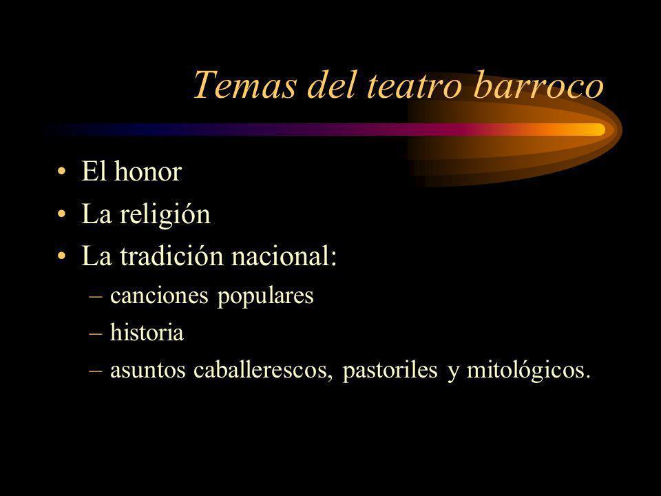 Temas del teatro barroco