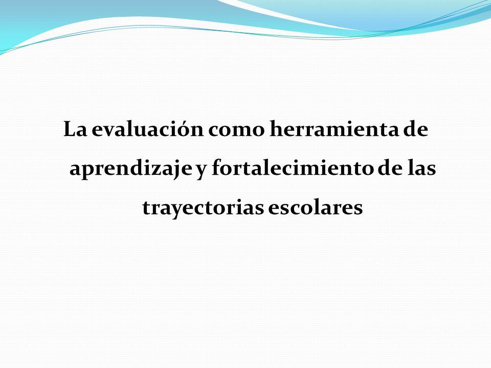 La evaluación como herramienta de aprendizaje y fortalecimiento de las trayectorias escolares