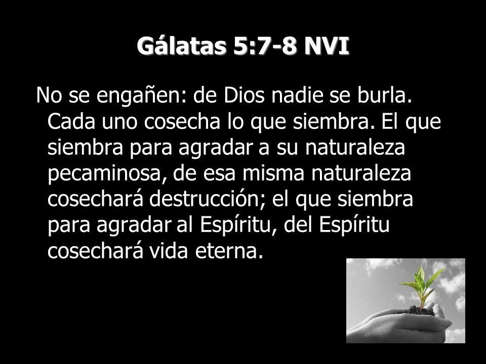 Gálatas 5:7-8 NVI