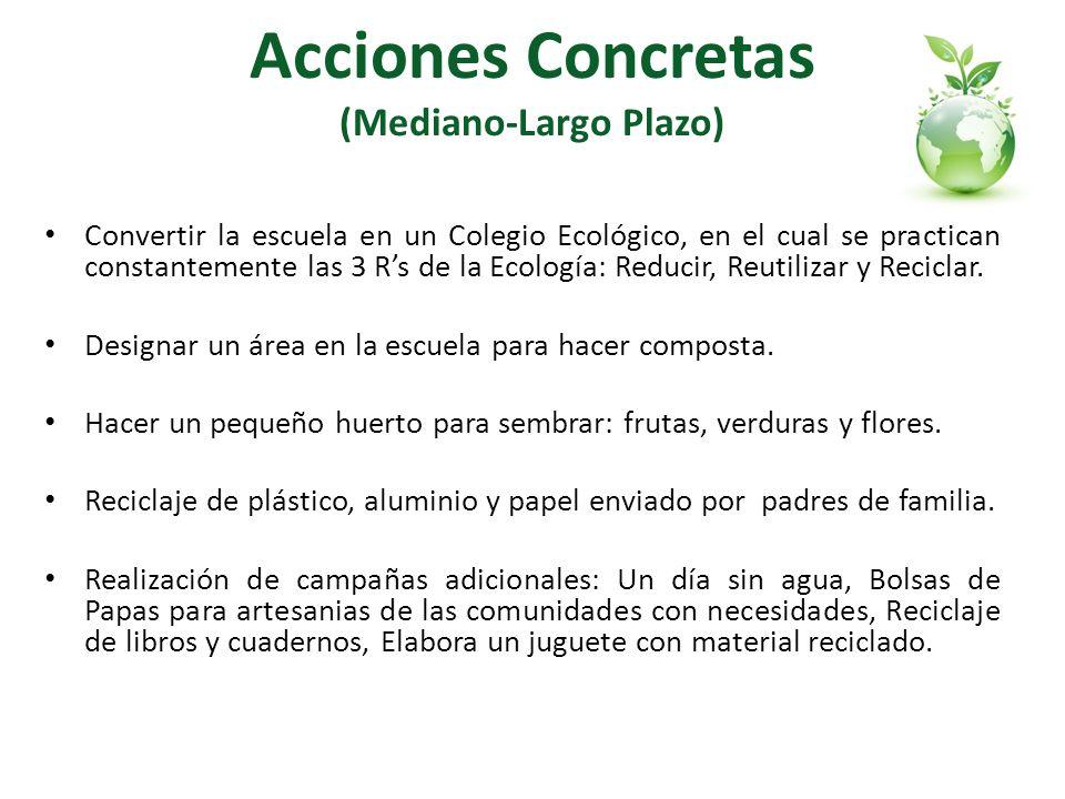 Acciones Concretas (Mediano-Largo Plazo)