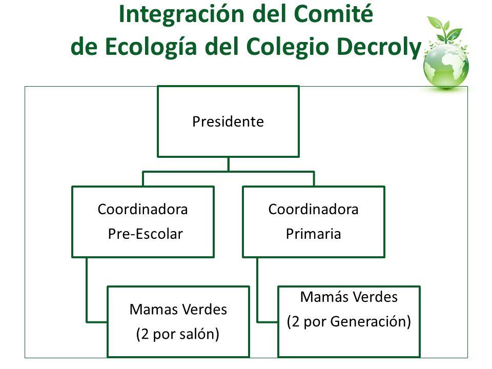 Integración del Comité de Ecología del Colegio Decroly
