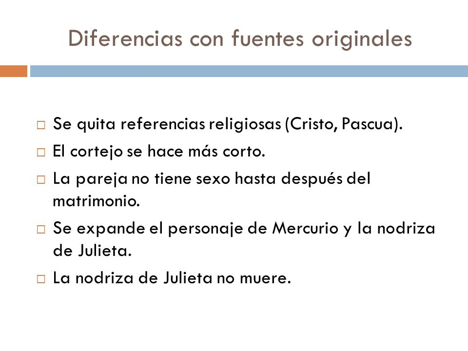 Diferencias con fuentes originales