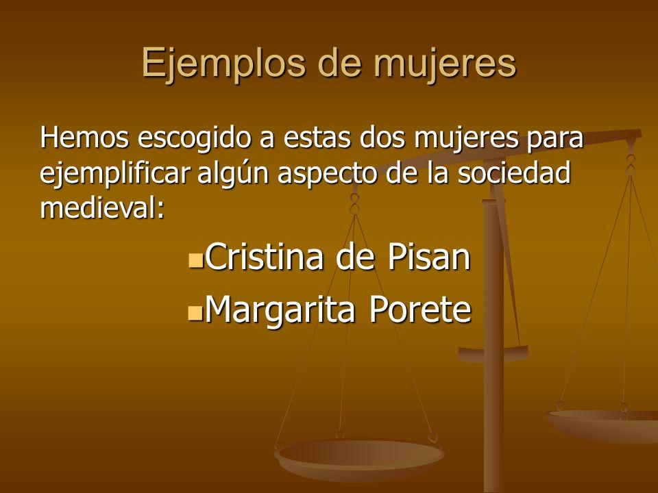 Ejemplos de mujeres Cristina de Pisan Margarita Porete