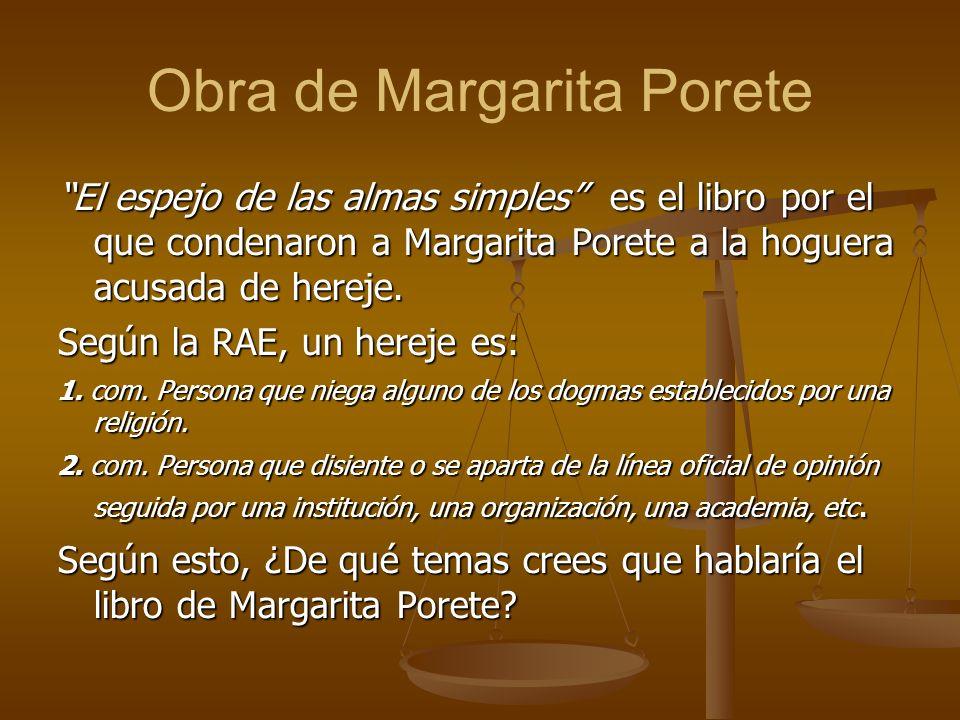 Obra de Margarita Porete