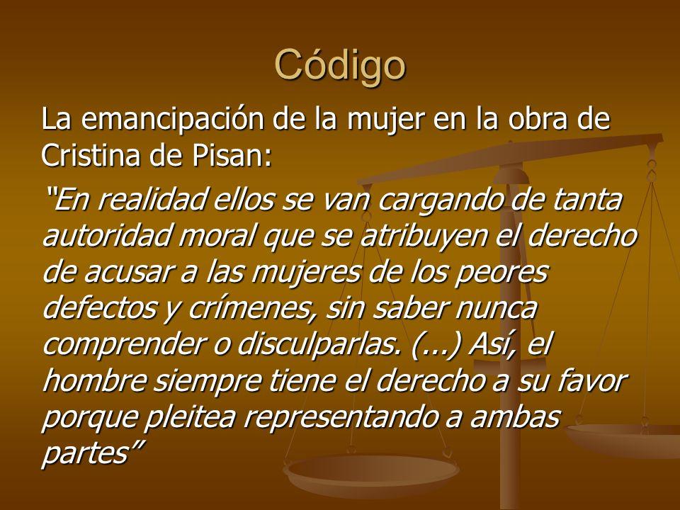 Código La emancipación de la mujer en la obra de Cristina de Pisan: