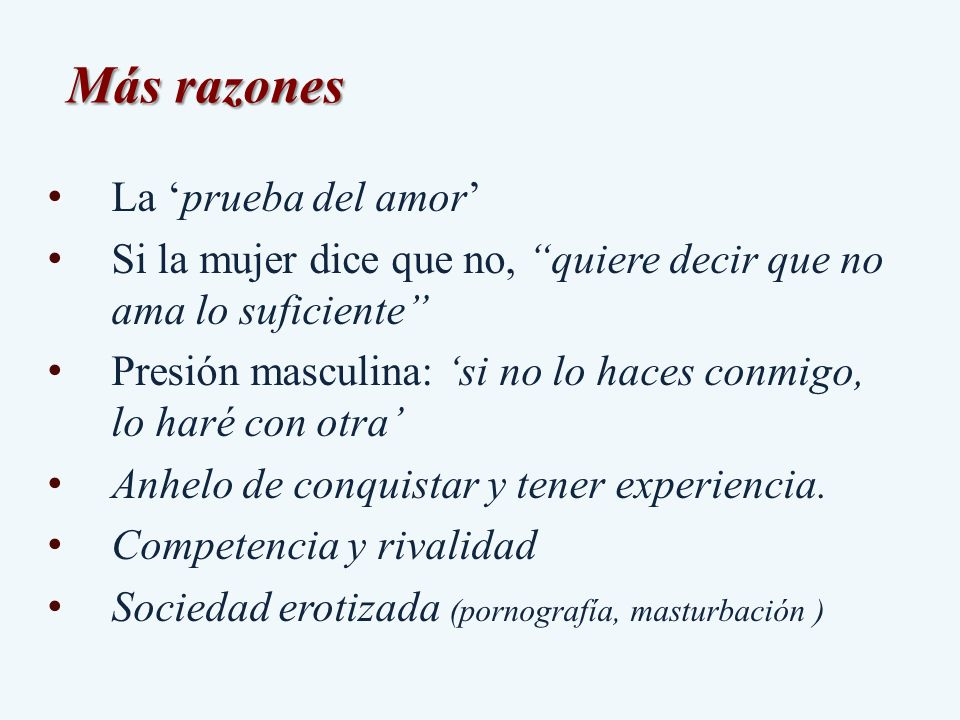 Más razones La 'prueba del amor'