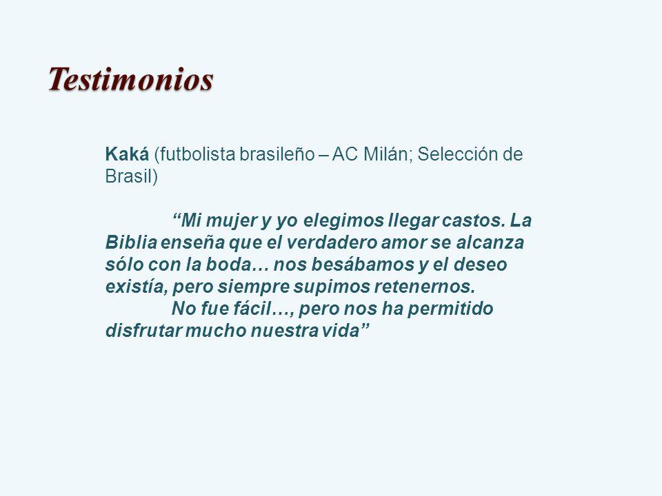 TestimoniosKaká (futbolista brasileño – AC Milán; Selección de Brasil)