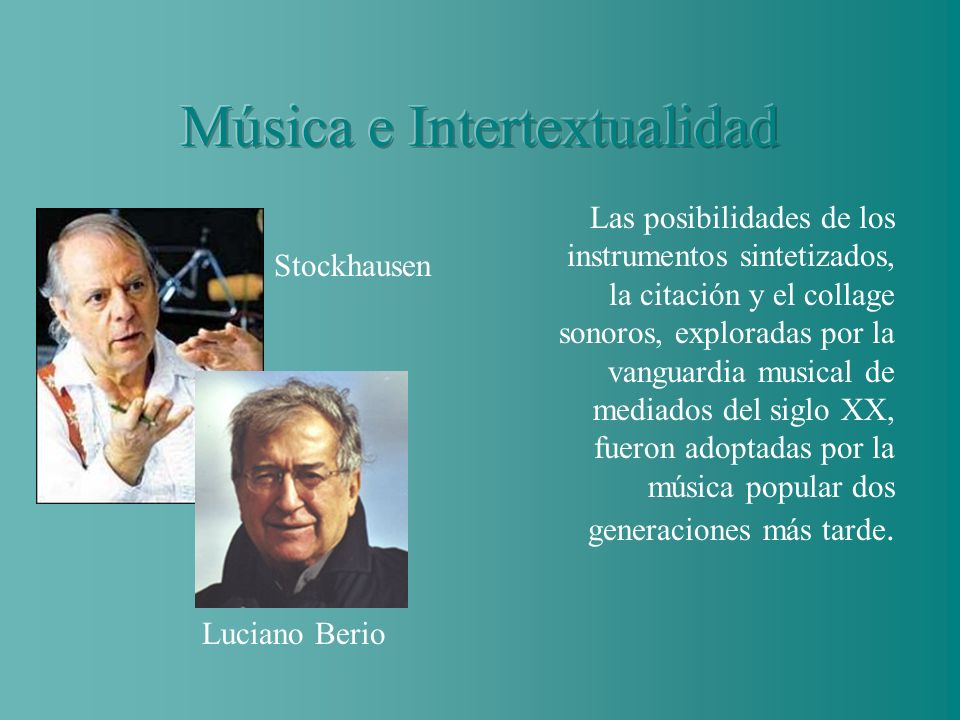 Música e Intertextualidad