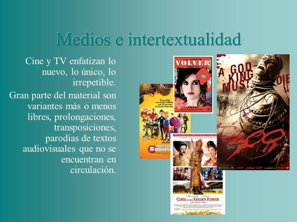Medios e intertextualidad