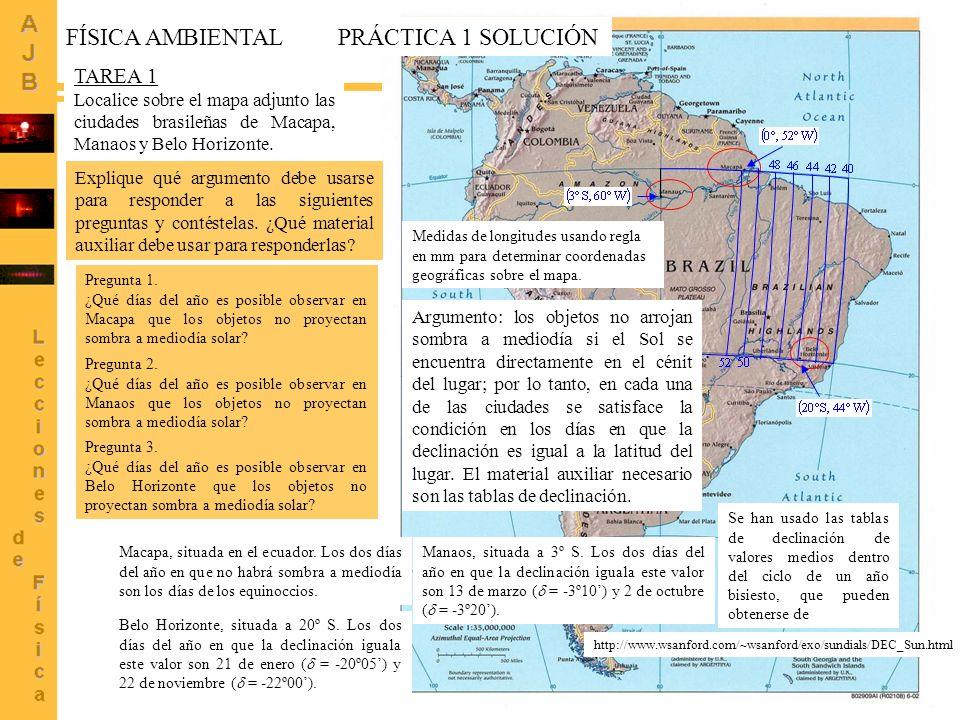 FÍSICA AMBIENTAL PRÁCTICA 1 SOLUCIÓN TAREA 1