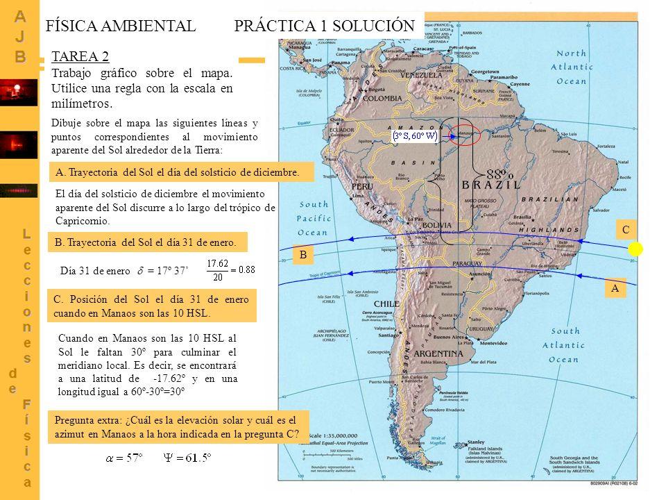 FÍSICA AMBIENTAL PRÁCTICA 1 SOLUCIÓN TAREA 2