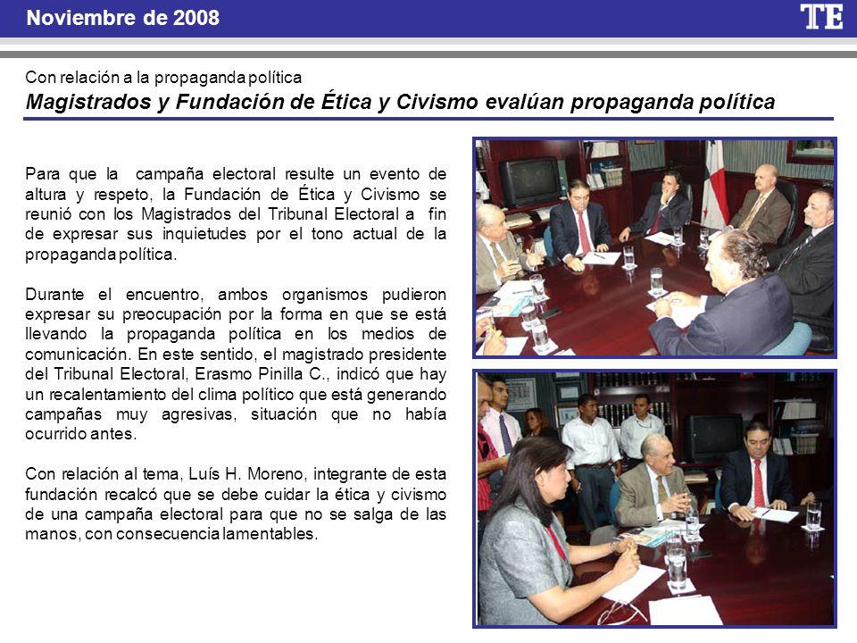 Magistrados y Fundación de Ética y Civismo evalúan propaganda política
