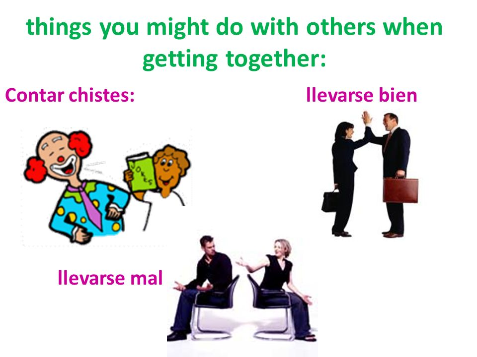 things you might do with others when getting together:
