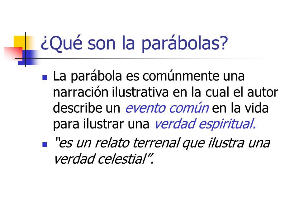 ¿Qué son la parábolas