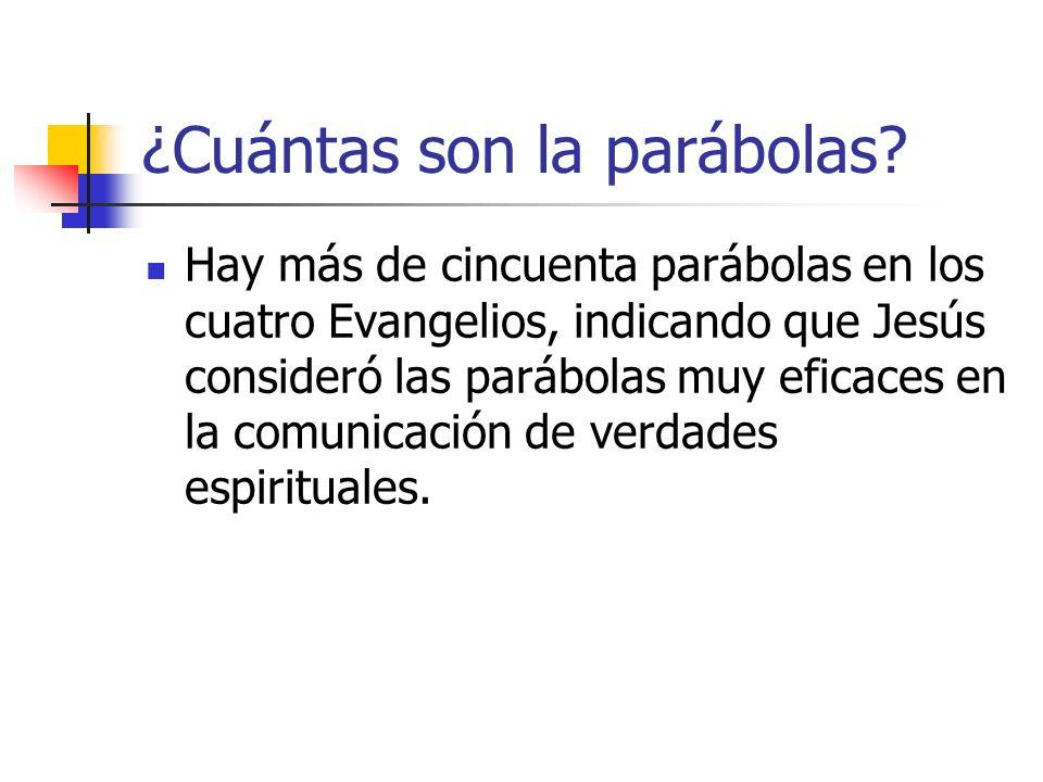 ¿Cuántas son la parábolas