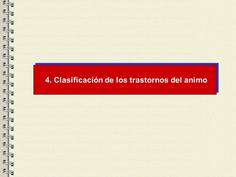 4. Clasificación de los trastornos del animo