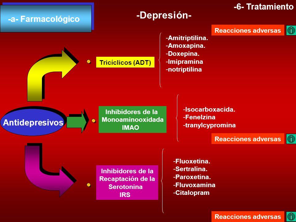 -Depresión- -6- Tratamiento -a- Farmacológico Antidepresivos