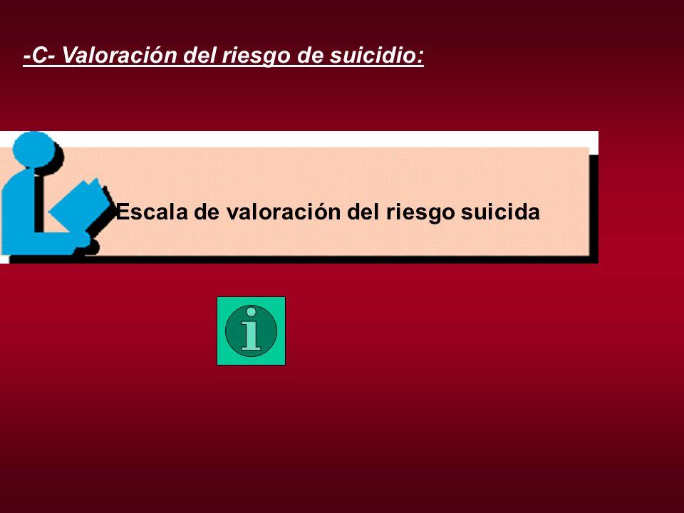 -C- Valoración del riesgo de suicidio: