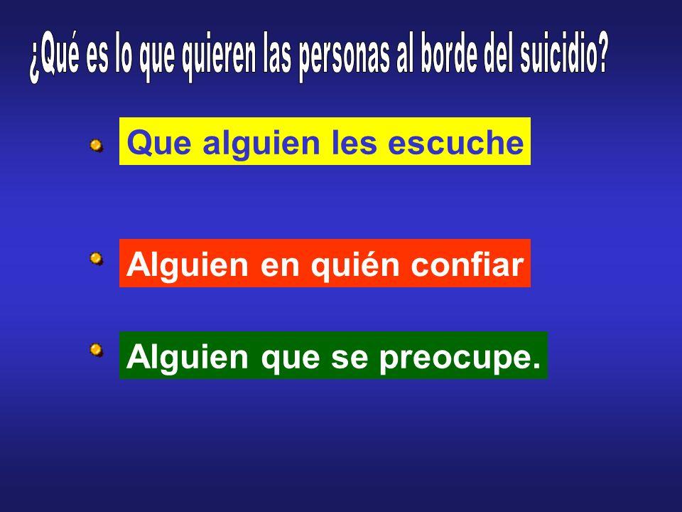 ¿Qué es lo que quieren las personas al borde del suicidio