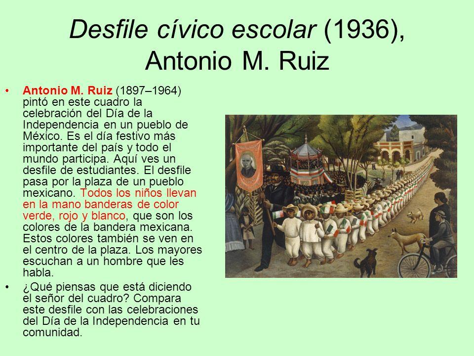 Desfile cívico escolar (1936), Antonio M. Ruiz