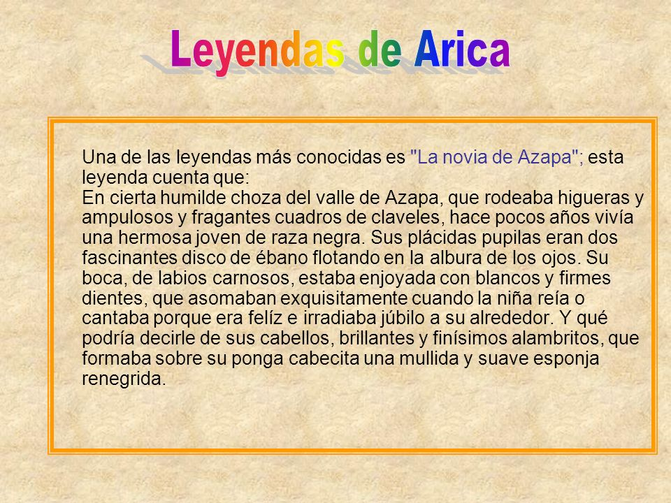 Leyendas de Arica